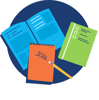 icon of notebooks